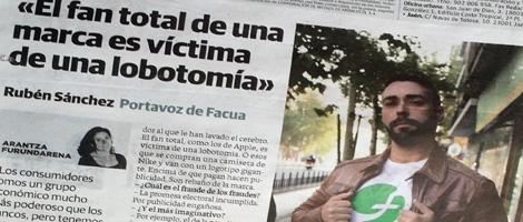 Entrevista sobre DEFIÉNDETE de #101fraudes en contraportada de los diarios regionales del grupo Vocento