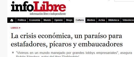 Entrevista en Infolibre.es sobre DEFIÉNDETE de #101fraudes