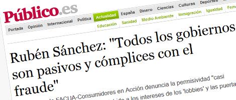 Entrevista en Publico.es sobre DEFIÉNDETE de #101fraudes