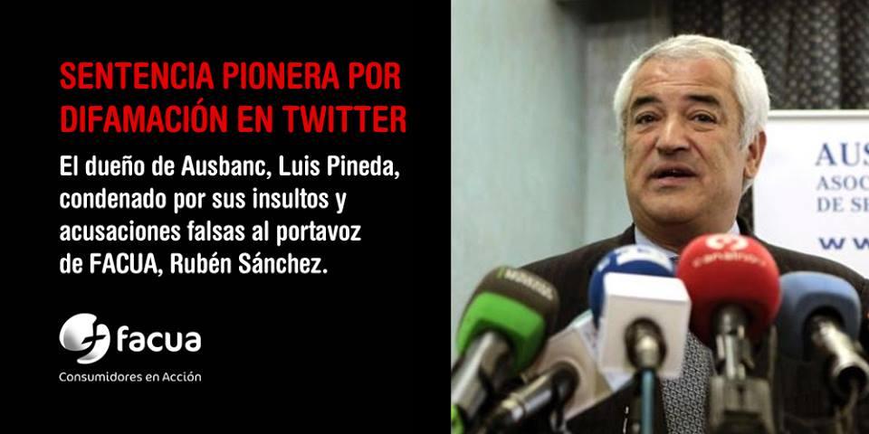 Los principales diarios digitales se hacen eco de la condena por difamación contra Luis Pineda