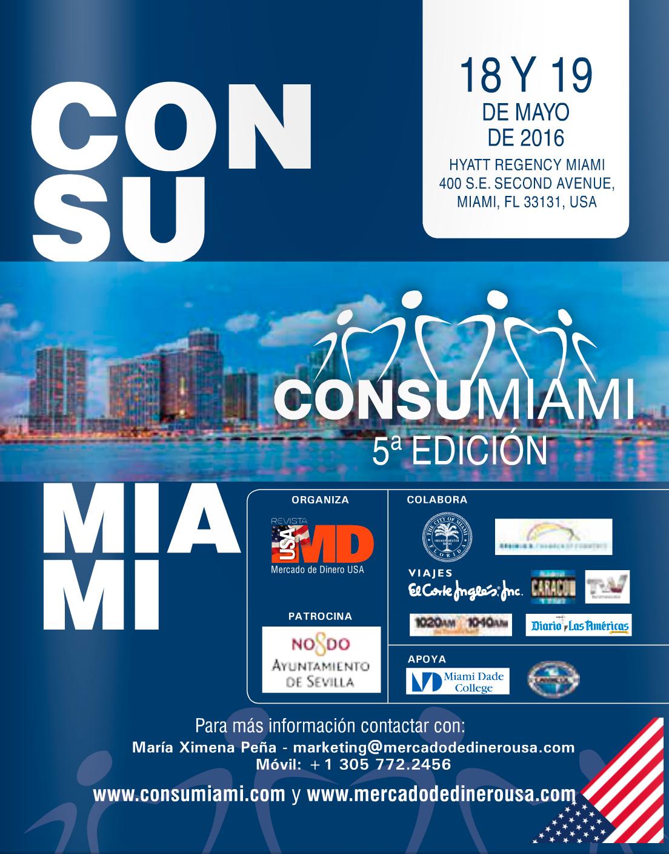 Cartel de ConsuMiami 2016, el evento que Ausbanc tenía previsto celebrar en EEUU gracias al patrocinio del Ayuntamiento de Sevilla.